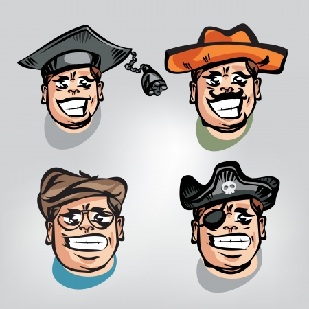 People's faces. Vector illustration Vector
