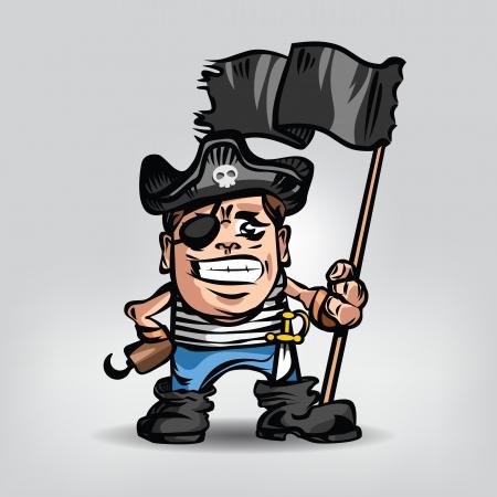 burglar man: Pirate. Vector illustration