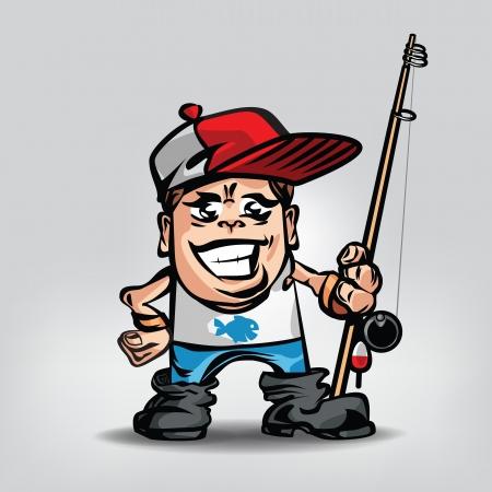 anglers: Fisherman. Vector illustration