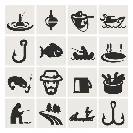 Set von Icons. Angeln