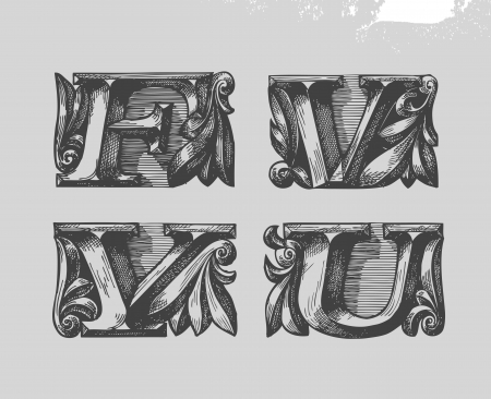 Font. Vector illustration Vector