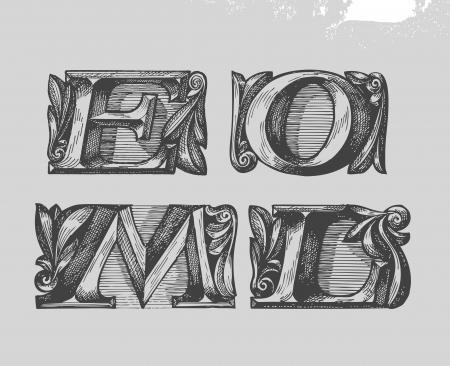 sans serif: Font. Vector illustration