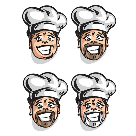 platter: Cook. Vector illustration