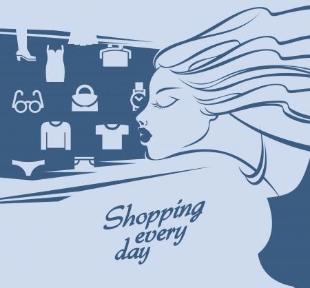 Shopping.  illustration Stock Vector - 18963301