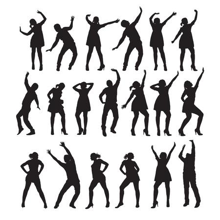 disco parties: Dancer. ilustraci�n Vectores