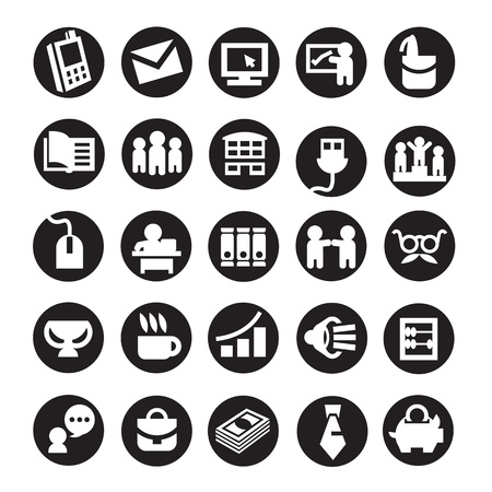 Set of icons. business Stock Vector - 19019479