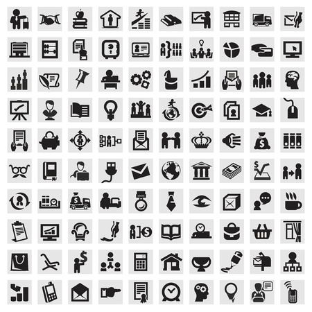 at icon: Set of icons. business Illustration