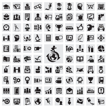 teach: Set of icons. education