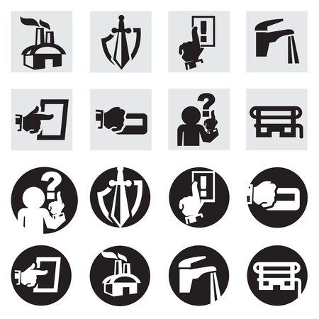 hazardous material:  icon set