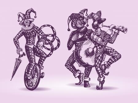 harlekijn: Clowns illustratie
