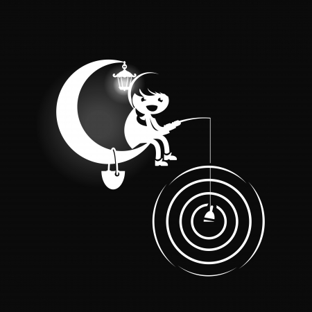 ardour: Fisherman. Vector illustration