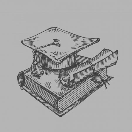 graduacion caricatura: estudiante
