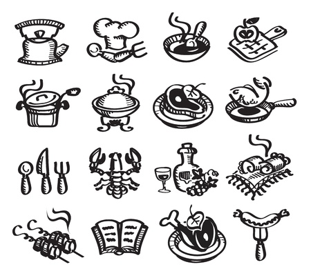 meat soup: Food and drinks  Vector illustration