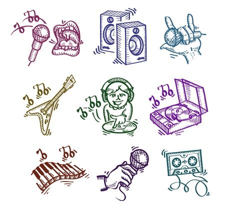 remix: Set of icons. Authors illustration  Illustration