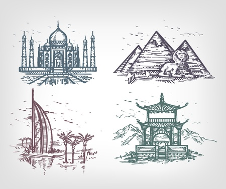 The countries of the world. Author's illustration  Vector