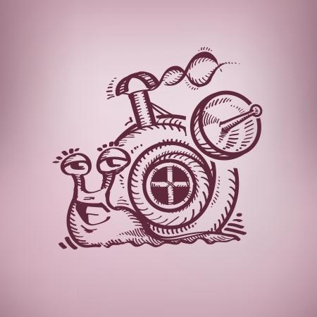 crustacea: Happy snail. Authors illustration Illustration