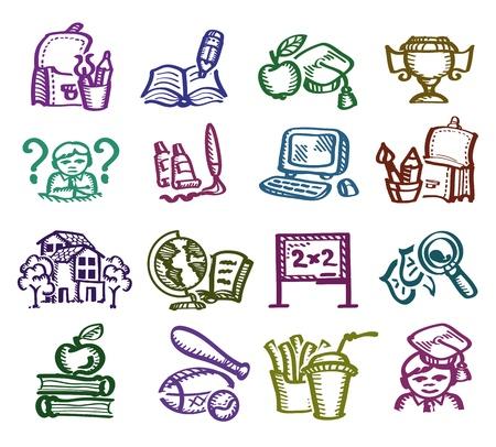 föremål: Tillbaka till skolan illustration Illustration