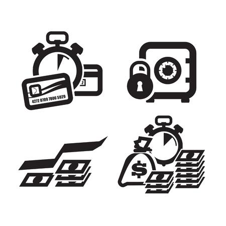 Electronic money  Vector illustration Illustration