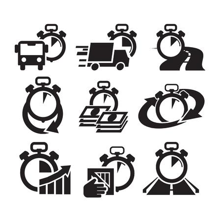 truck driver: Symbol. Vector illustration Illustration
