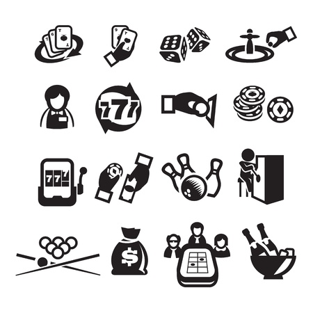 dealer: icons set casino Illustration
