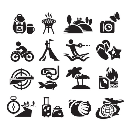 Recreation Icons. Vector illustration Vector