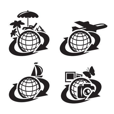 tour operator: Icons. Vector illustration
