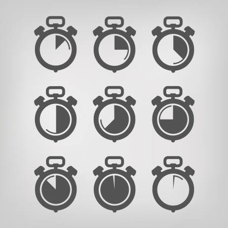 slow: Stopwatch. Vector illustration Illustration