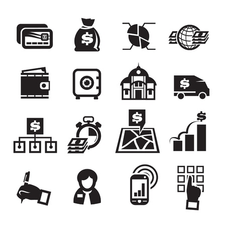 Finance Icons. Vector illustration Vector