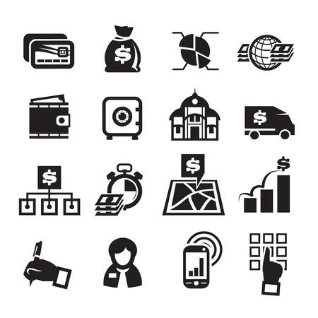 cash dispense: Finance Icons. Vector illustration
