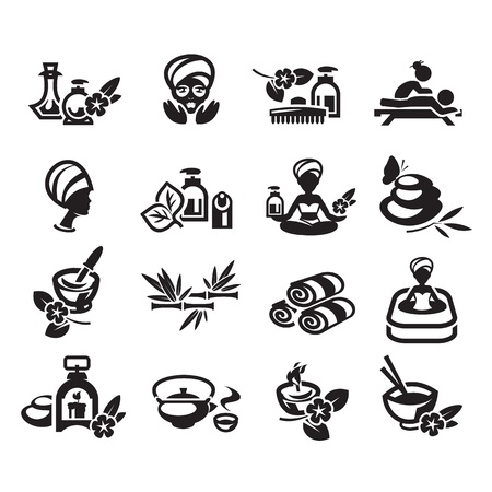 Spa icons set vector Vector