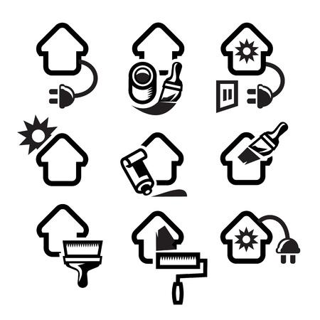 heating engineers: Building. Vector illustration
