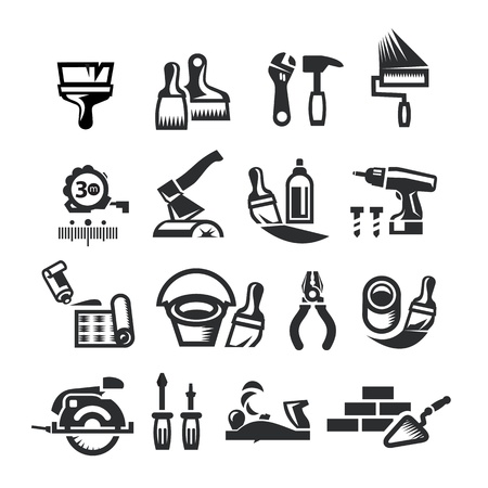 chest wall: Repair Icons. Vector illustration