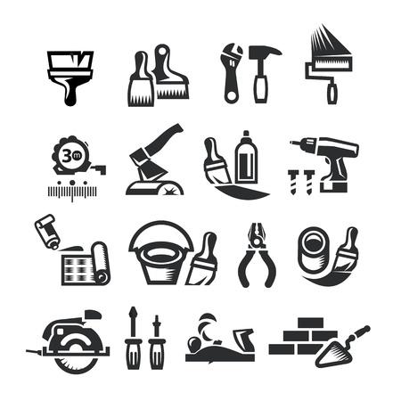 Reparar iconos. Ilustración vectorial Ilustración de vector