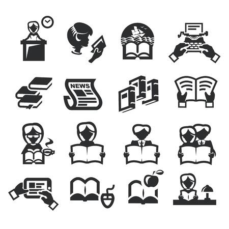 prose: Icons set literature
