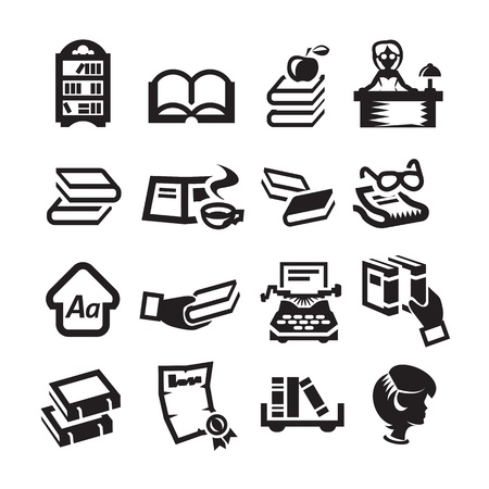 Icons set library Vector