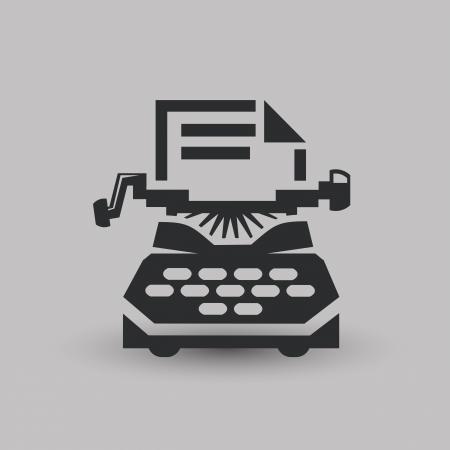 typewriter machine: Typewriting machine Illustration