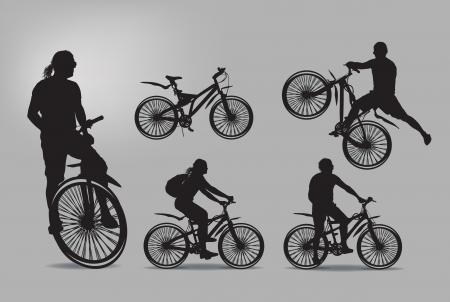rider: Bike. Vector illustration Illustration