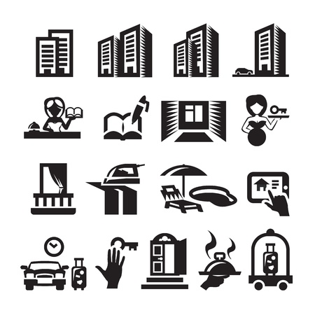 Hotel icons Stock Vector - 20960991