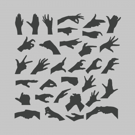 griping: Hands icons
