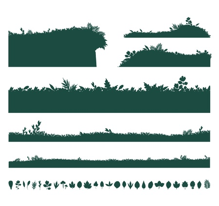 Backgrounds Of Green Grass Vector