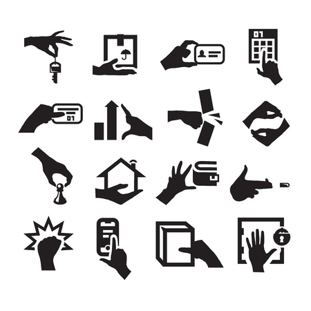 Hand icons Stock Vector - 20961000