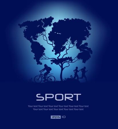 world atlas: Map of the world  Sport Illustration