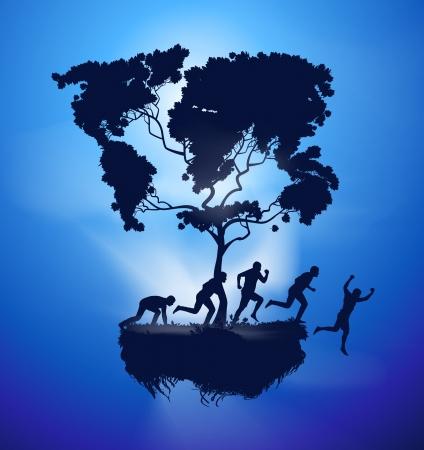 Surrealisme. Nature and man