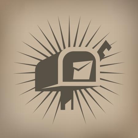 comunicazione: Icona di Mail box Vettoriali