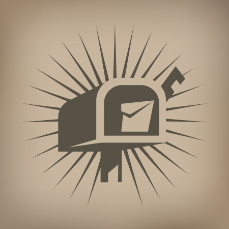 mail icon: Mail box icon Illustration