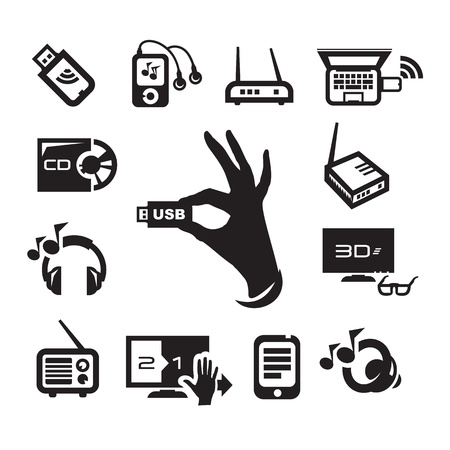 Media icons set Stock Vector - 21145528