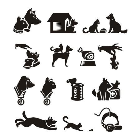 silhouette maison: Cat Dog