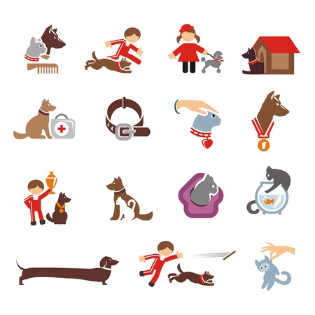 Dog & Cat icons set Stock Vector - 21425432