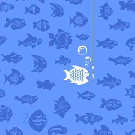 stingrays: Fishing illustration