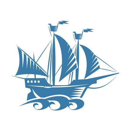 old ship: Retro ship Illustration